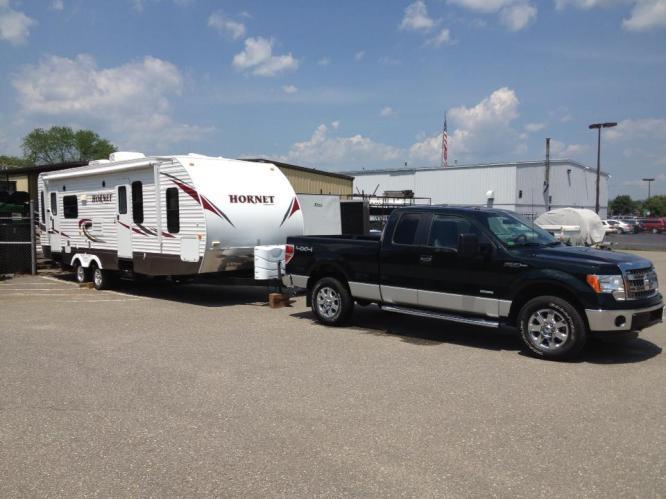 camper and truck
