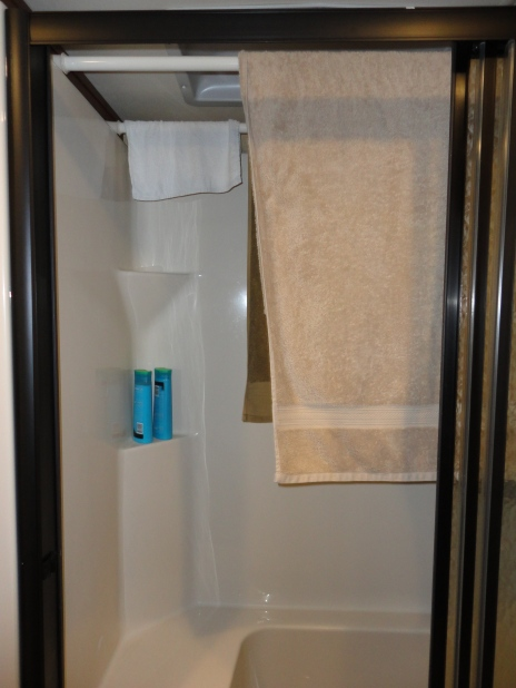 Towel Holder in Shower