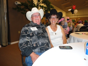 Pam and Red in their cowboy hates. We love love love them!!!