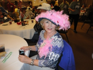 Eileen who took runner up in the prettiest hat contest...she's a great lady and a bit naughtier than she appears :)