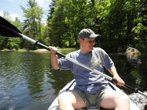 Lee paddling...look at that smile