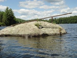 Homemade NH diving board on a rock...this cracked me up