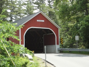 The covered bridge by the river entrance