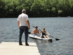 Dad, Katy, and Jake..they kayaked the entire lake