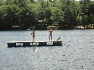 Kyrston and Jake on the diving platform