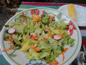 Farm fresh salad with Olive Garden dressing