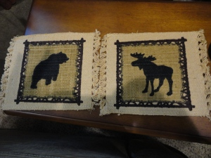 New coasters I get the moose and Lee gets the bear
