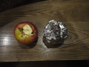 Stuffed apple and wrapped apple