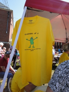 The festival T-shirt...which I would have bought if I didn't look so terrible in yellow