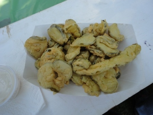 Fried pickles were yummy