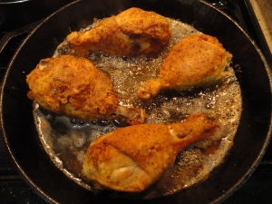 Chicken in the cast iron skiller