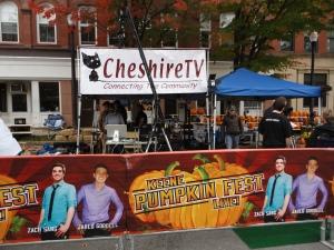Cheshire TV at the Keene pumpkin festival