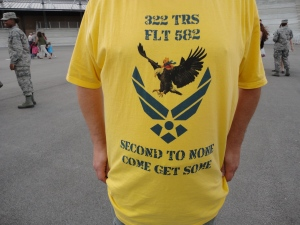 Shirts Lee had made to celebrate her graduation. Check out the Pooh Bear flying on the eagle