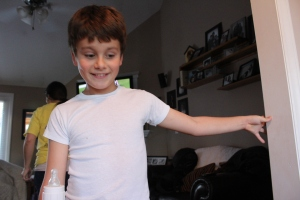 My nephew Alex is a very energetic 10 year old.