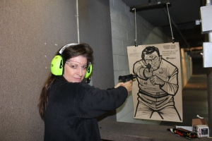 Deb is one heck of a shot. She's been shooting since she was 4 years old. Don't mess with her.