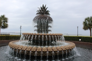 My favorite part of Waterfront Park is the Pineapple Fountain. I have read about this but it was so much better in person. It's very large and people are allowed to play in it.
