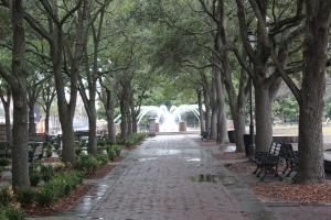 Tree lined cobblestone walkways..so beautiful