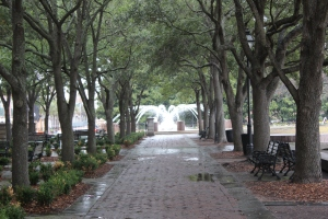 Tree lined cobblestone walkways..so beautiful