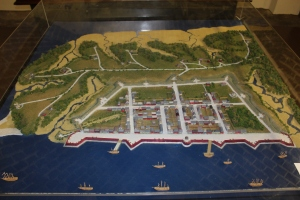 Model of the original walled city