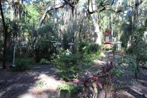 The bird watching area at the Jekyll Island campground. More campgrounds should have these...VERY cool