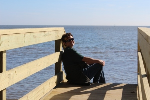 Taking a few quiet moments by the ocean