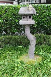 Really cool stone bird house