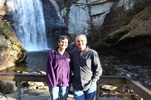Me and Lee in front of Looking Glass Waterfall