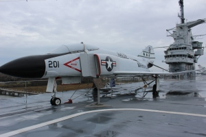 One of the many planes on the flight deck