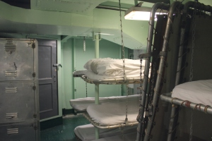 Crew quarters. The hanging beds would have freaked me out