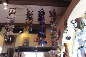 Really cool wind chimes in the store