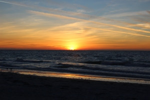 Sunset at Indian Rocks Beach in Largo Florida