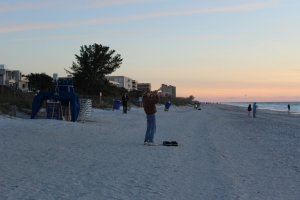 Gentleman who plays taps every night at Sunset beach