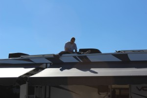 Greg doing a solar install