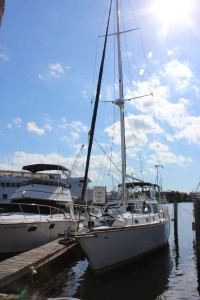 Our sailboat the Atlantis V