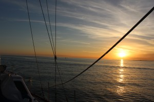 Sunset from the sailboat