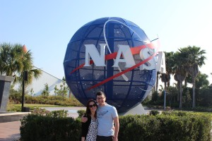 Kat and Micah at Kennedy Space Center