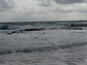 The waves are so much higher and I used to walk on those rocks in low ride as a kid
