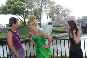 Tinker Bell was talking at me ...freaked me out a little