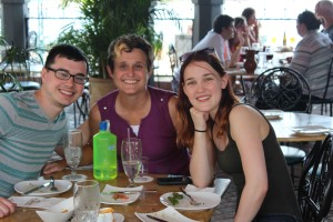 Micah, me, and Kat at this great Moroccan restaurant at Epcot