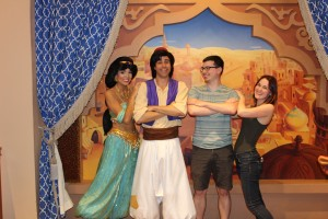 Micah with his huge man crush on Aladdin
