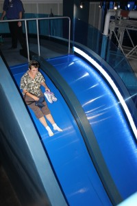 Slides aren't just for kids !! It went fast