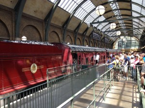 The Hogwarts train actually rides you from the newer section of the park to the old one