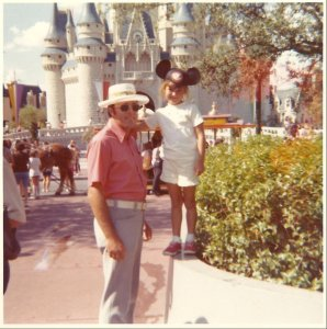 My dad and I in Disney the year it opened