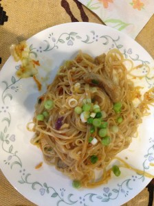 Stir Fried Rice Noodles with Pork