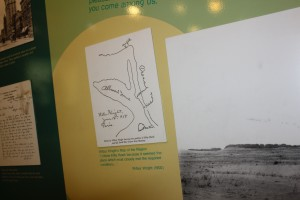 A hand drawing showing why they chose the site
