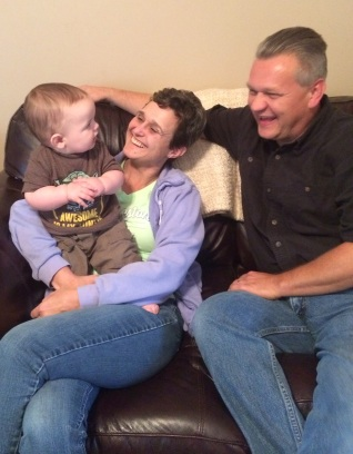 Abram, me, and Lee...can you tell we love our newest nephew