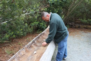 They made canoes by burning first then scraping the softened wood with shells, we all got to try