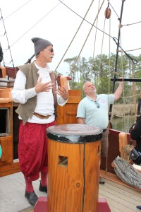 Bill spent quite a bit of time talking to the first mate