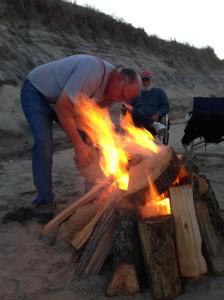 Craig built a beautiful fire