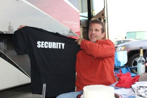 Cori got Greg a Security T-Shirt ..so now it's offical